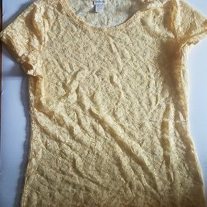 Yellow Lace H&M Top